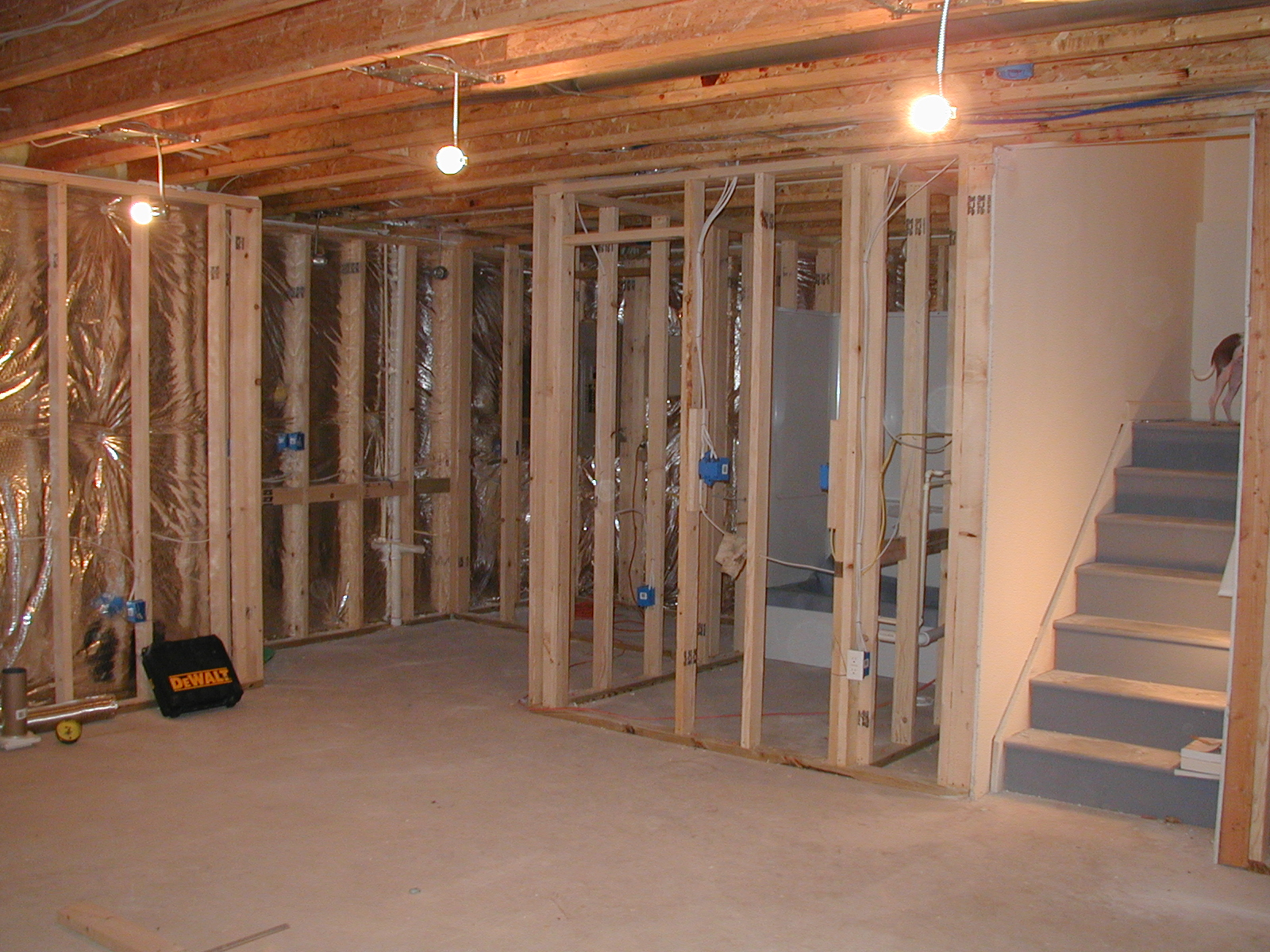 61 best basement framing images on pinterest basement basements and backyard ideas for Framing interior basement walls